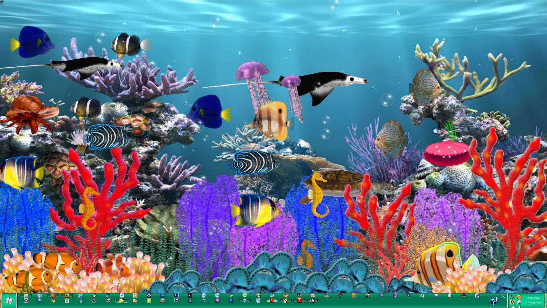I like freeware swimming fish screensaver free for Swimming fish screensaver