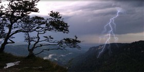 thunderstorm on mountains