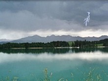Thunderstorm lake Forggensee