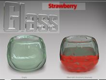 Glass Strawberry - Recycle bin