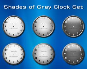 Shades of Gray Clock Set