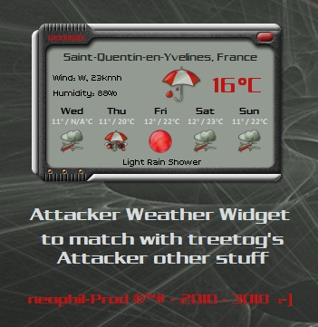 Attacker Weather Widget
