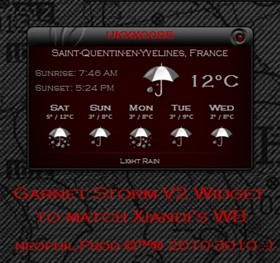Garnet Storm Weather Widget V 2