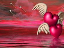 Flying Hearts Valentine