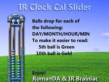 IR Clock - Cal Slider