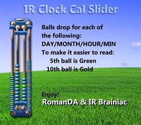 IR Clock - Cal Slider