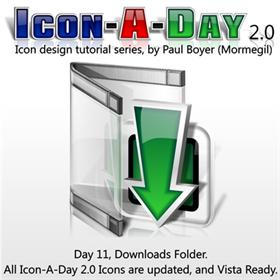 Icon-A-Day 2.0, Day 11, Downloads Folder