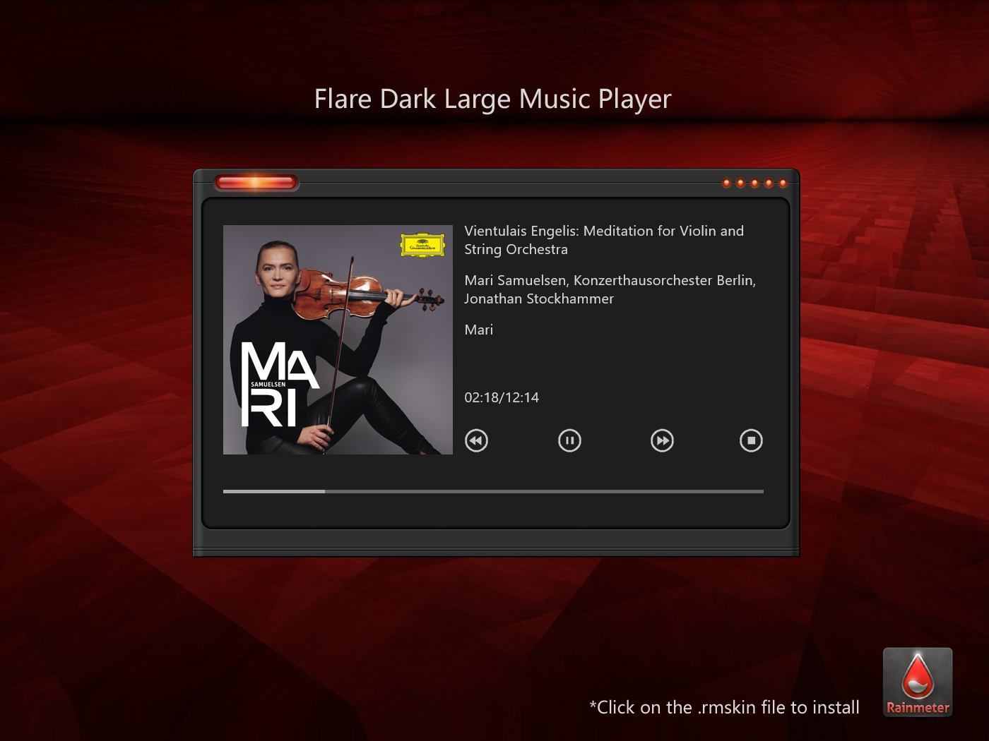 Flare Dark Large Music Player