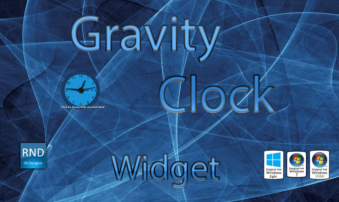 Gravity Clock Widget
