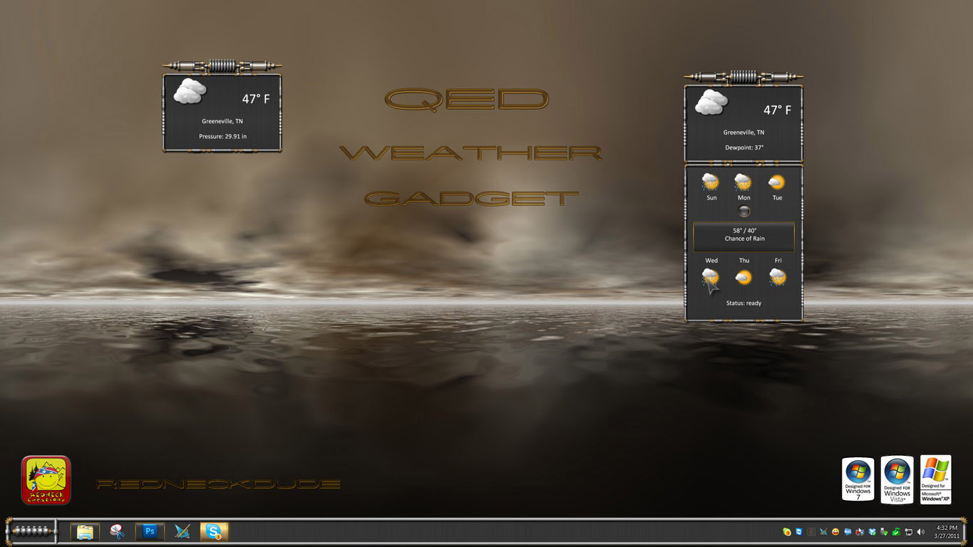 QED Weather Gadget