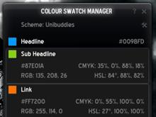 Colour Swatch Manager