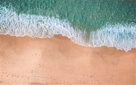 Drone Shot of Beach and Water