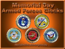 Armed Forces Clocks